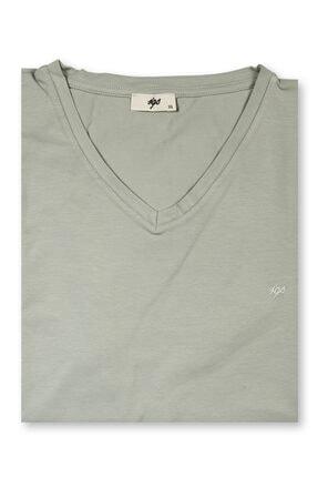 İgs Erkek Yeşil Modern Fit T-shirt