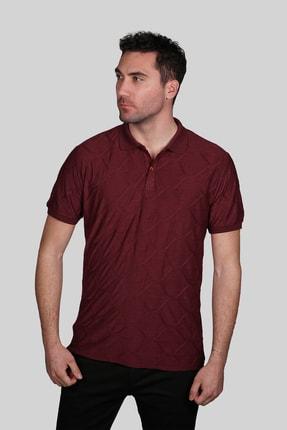 İgs Erkek Bordo Slim Fit Polo Yaka T-shirt
