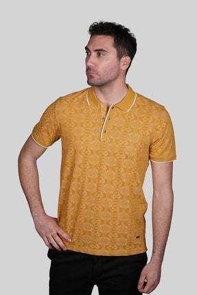 İgs Erkek Hardal Modern Fit Polo Yaka T-shirt