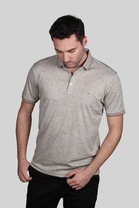 İgs Erkek Bej Modern Fit Polo Yaka T-shirt