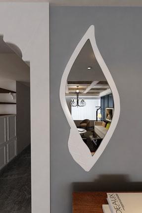 İkizlerçeyiz Yaprak Dekoratif Konsol Aynası Beyaz
