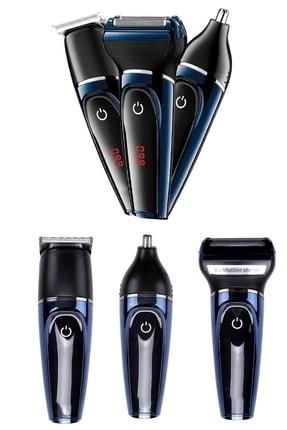 yopigo Yp-565 Yeni Model Lcd 3in1 Erkek Bakım Seti Saç Sakal Kesme Traş Makinesi Burun Kılı Alma