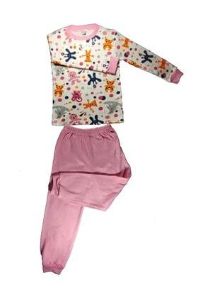 Ece Kids Kız Çocuk ı Pembe  Uzun Kollu Pijama