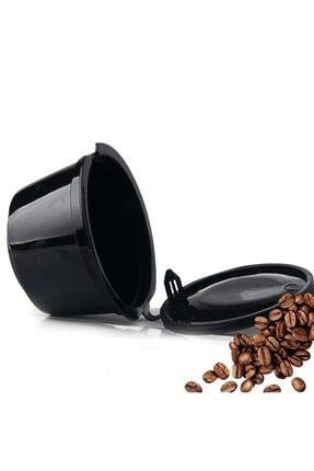 Nescafe Dolce Gusto Için Tekrar Kullanılabilir Doldurulabilir Siyah Kapsül
