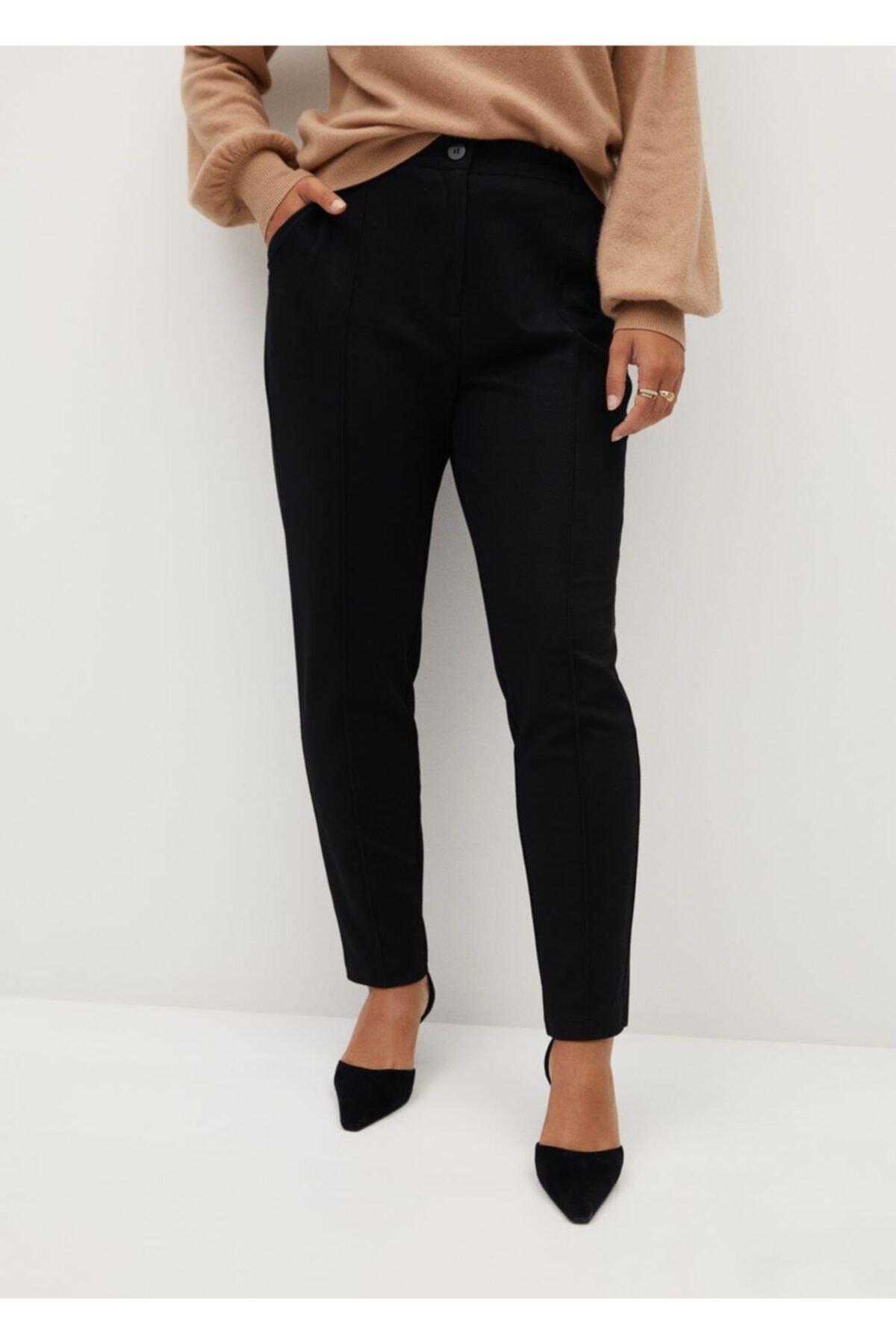 Violeta by MANGO Kadın Siyah Dar Kesimli Takım Pantolon 2