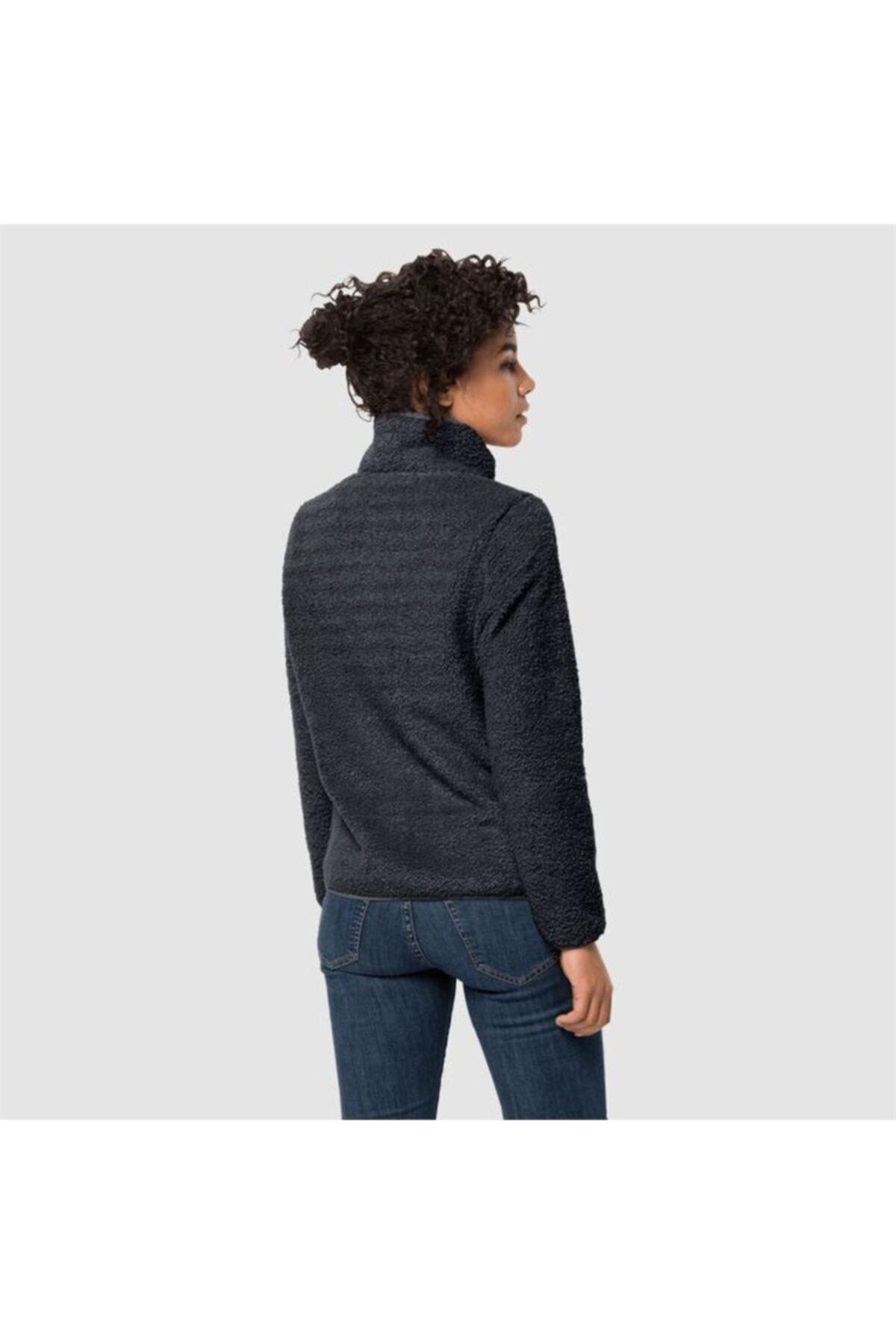 Jack Wolfskin Kadın Siyah Outdoor Spor Sweatshirt 2