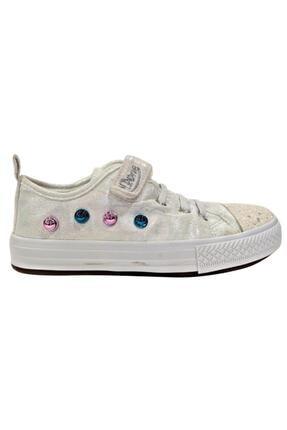 MP Kız Çocuk Gümüş Renkli Ayakkabı Kanvas