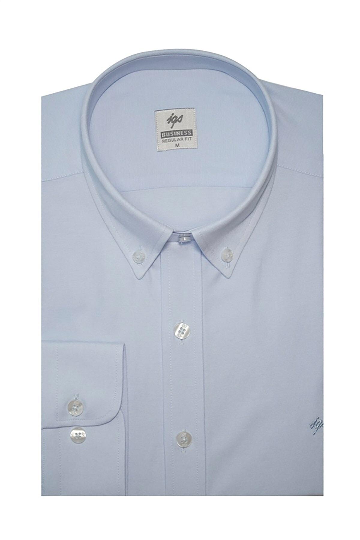 İgs Erkek Açık Mavi Regular Fit Gömlek 1