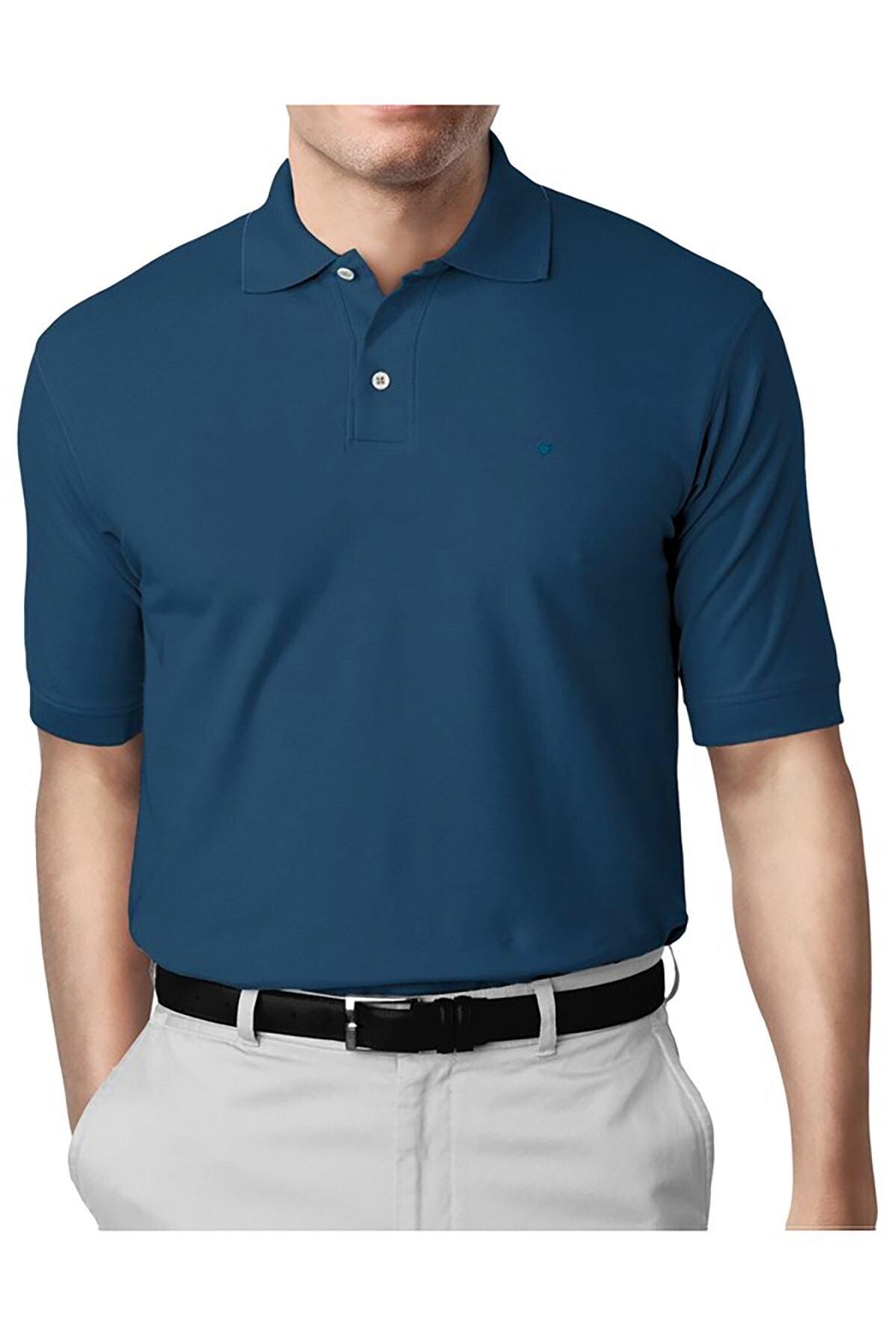 İgs Erkek Petrol Modern Fit Polo Yaka T-shirt 1