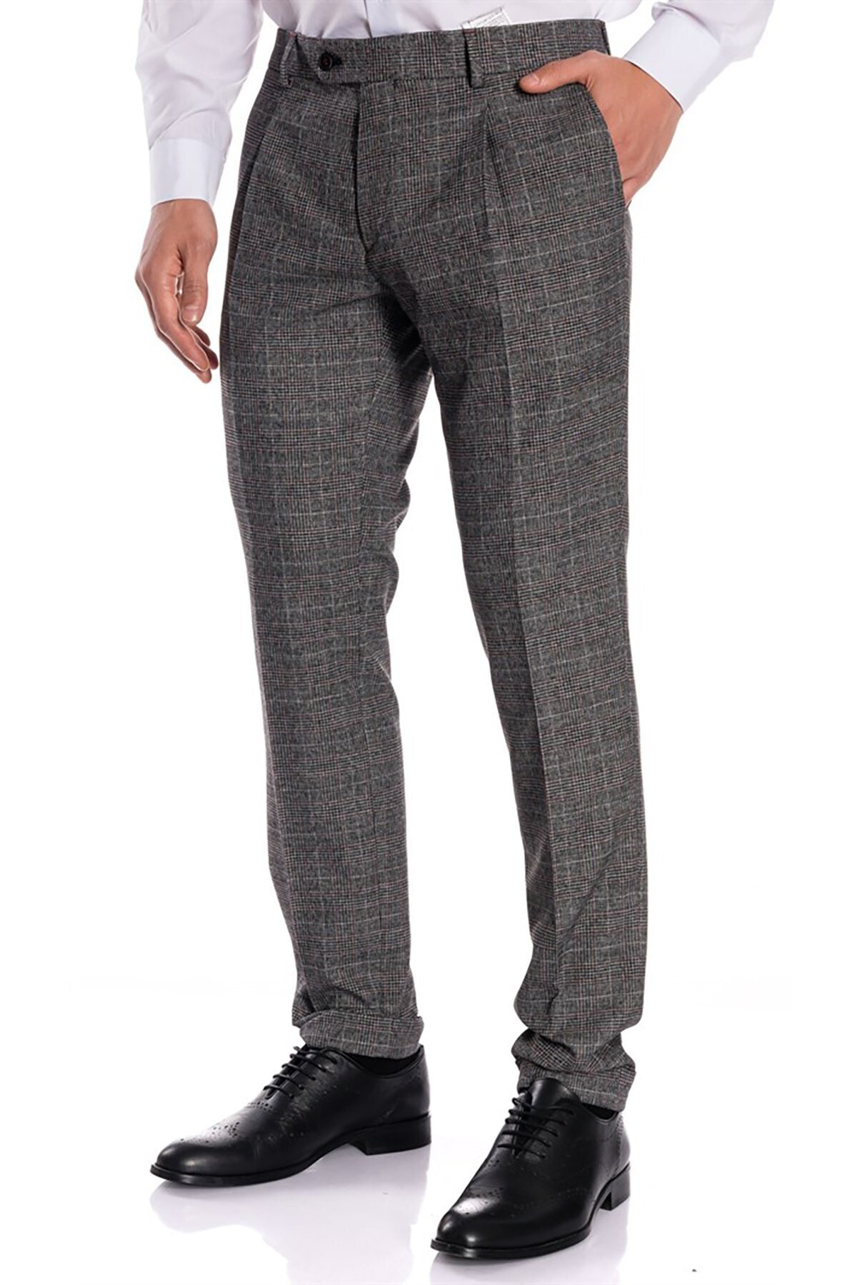İgs Erkek Siyah Slim Fit Pantolon 1