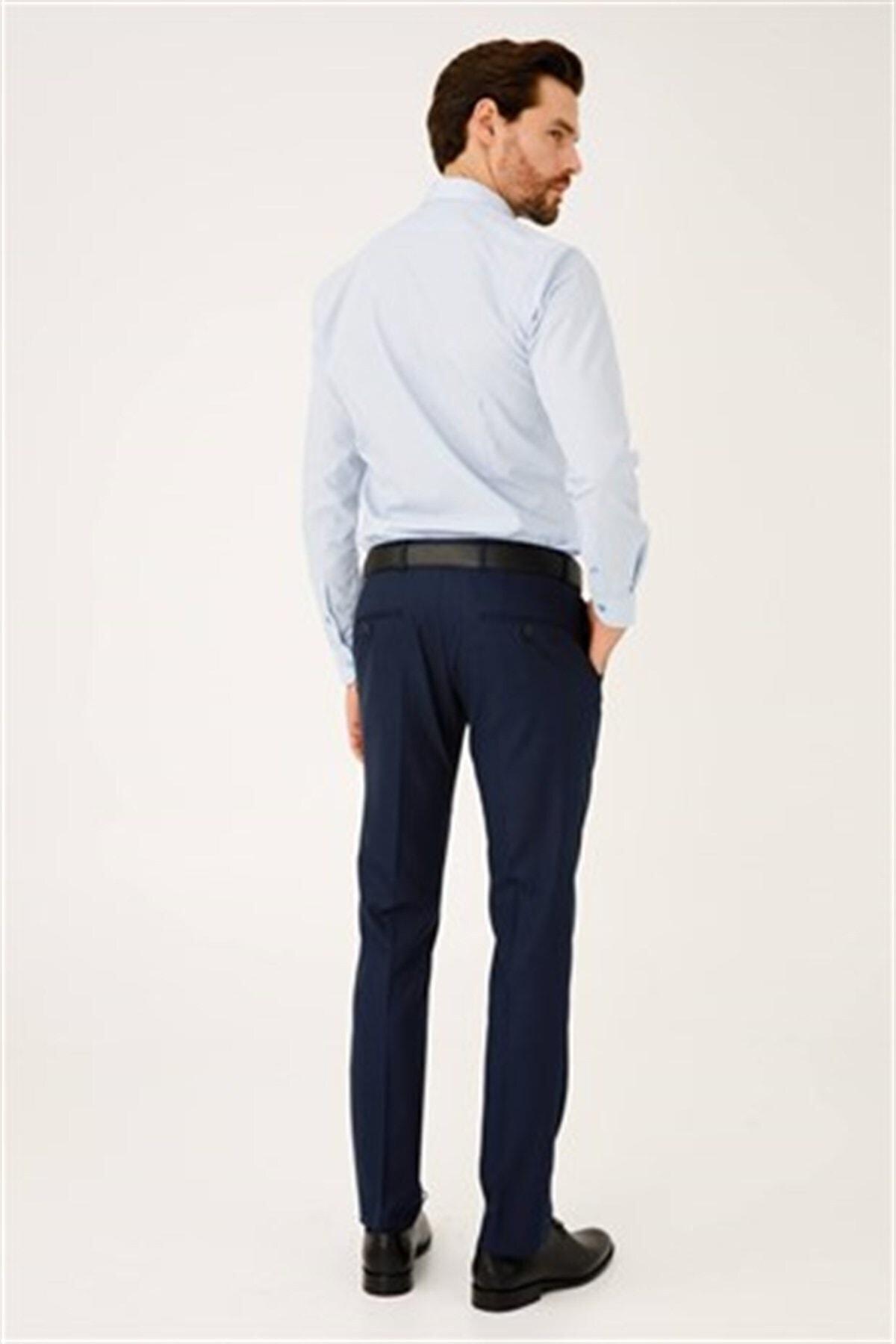 İgs Erkek Lacivert Dar Kalıp Pantolon 2