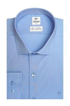 İgs Erkek Mavi Slım Fıt Dar Kalıp Std Gömlek
