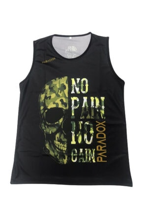 Octagon Unisesx Kahvereng No Pain No Gain Baskılı Atlet