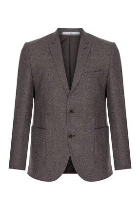 İgs Erkek Bej Slım Fıt Dar Kalıp Ince Kırlangıç Ceket