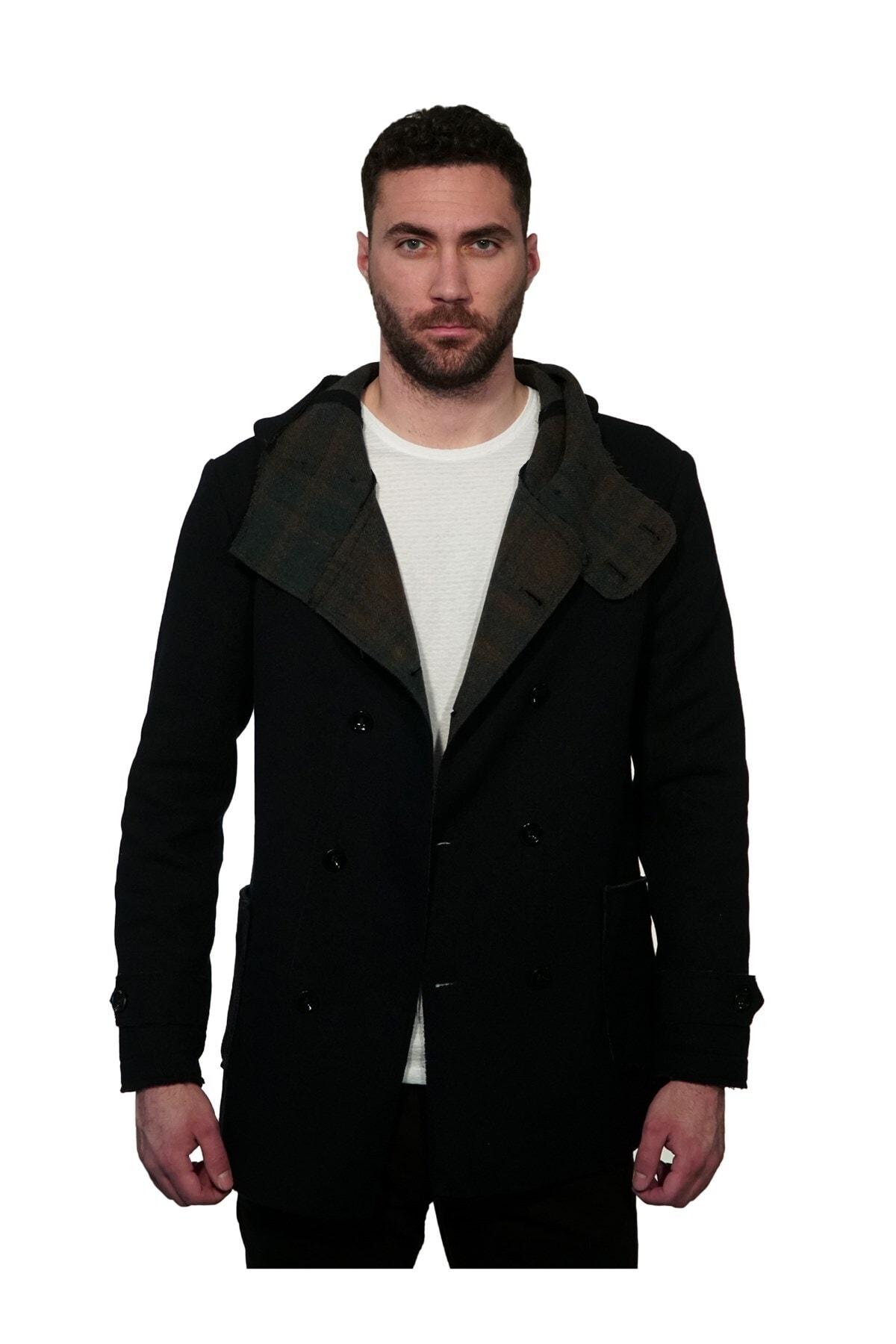 İgs Erkek Lacivert Modern Fit Palto 1