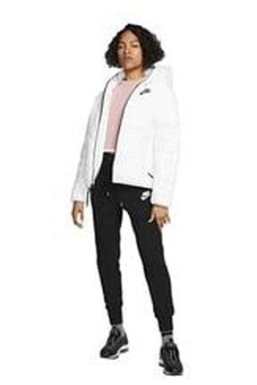 Nike Kadın Beyaz Kapüşonlu Mont Cv86887-100