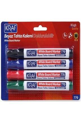 KRAF Beyaz Doldurulabilir Tahta Kalemi 770-4 4'lü