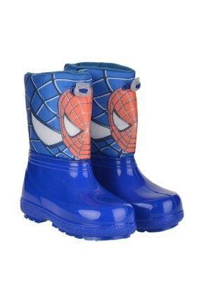 Serabian Erkek Çocuk Çizme Mavi Örümcek Paraşüt Kışlık Bot