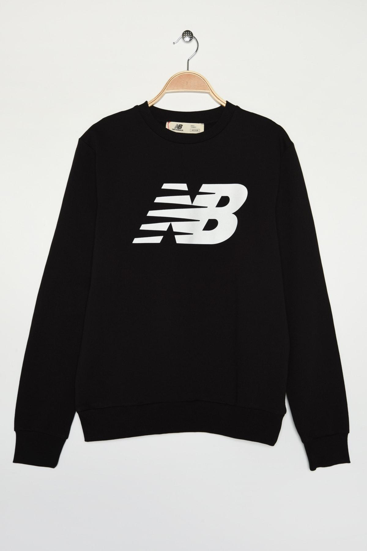 New Balance Erkek Spor T-Shirt - MTT0301-BK 1