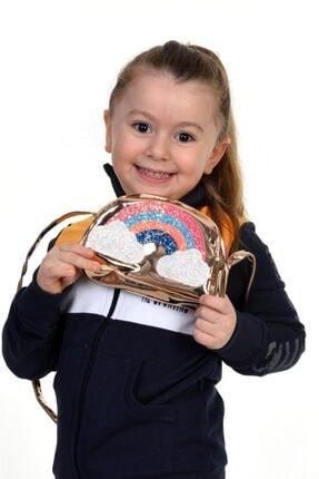CHEKA Kız Çocuk Altın Ghw Gökkuşağı Detaylı Çanta