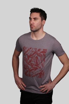 İgs Erkek Mürdüm Slim Fit T-shirt