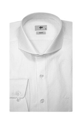 İgs Erkek Beyaz Slim Fit Gömlek