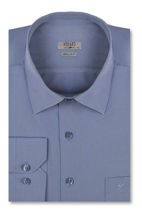 İgs Erkek Koyu Mavi Slim Fit Klasik Gömlek