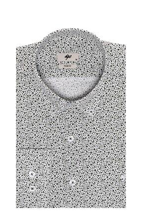 İgs Erkek Haki Slim Fit Düğmeli Yaka Gömlek