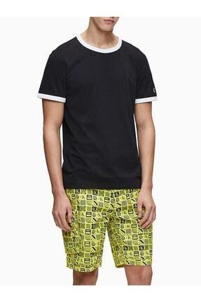 Calvin Klein Erkek Siyah Rahat Kesim Tshirt