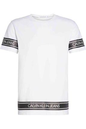 Calvin Klein Erkek Beyaz Kısa Kollu Tshirt