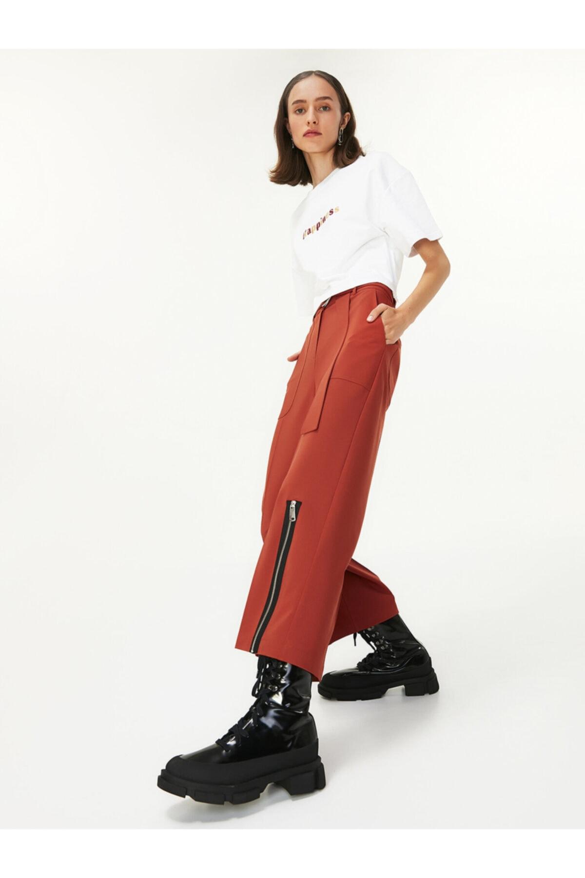 Twist Kadın Beyaz Slogan Nakışlı Tshirt TW6200070020002 2