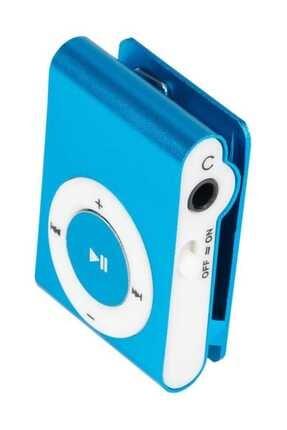 Kensa Mini Mp3 Çalar Micro Sd Kart Girişli Müzik Çalar + Kulaklık Mp3 Mavi
