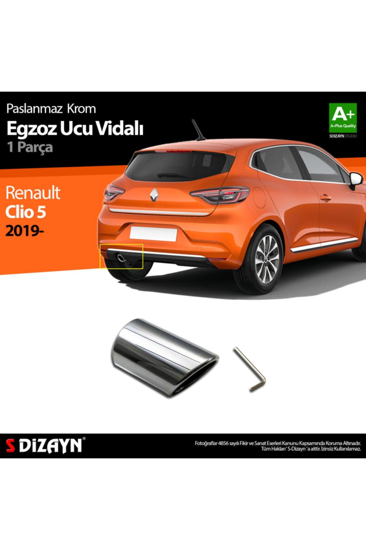 S Dizayn S-dizayn Renault Clio 5 Krom Egzoz Ucu Vidalı 2019 Ve Üzeri 1