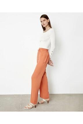 İpekyol Kadın Turuncu Lastik Bel Pantolon