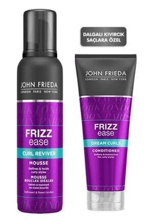 John Frieda Bukle Belirginleştirici Bakım Kremi + Bukle Belirginleştirici Saç Köpüğü