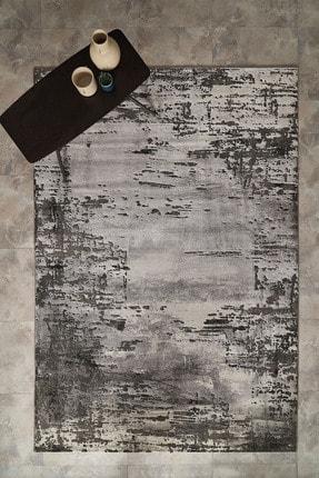 Enza Home Spectrum Modern Özel Tasarım Dokuma Halı - Siyah/gri 120x180