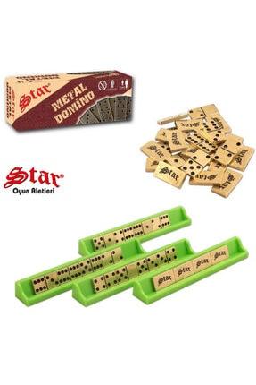Star Okey Star Domino Zamak Büyük Boy Domino Oyun Seti Metal Domino Taşı Seti Metal 1. Kalite Metal Domino