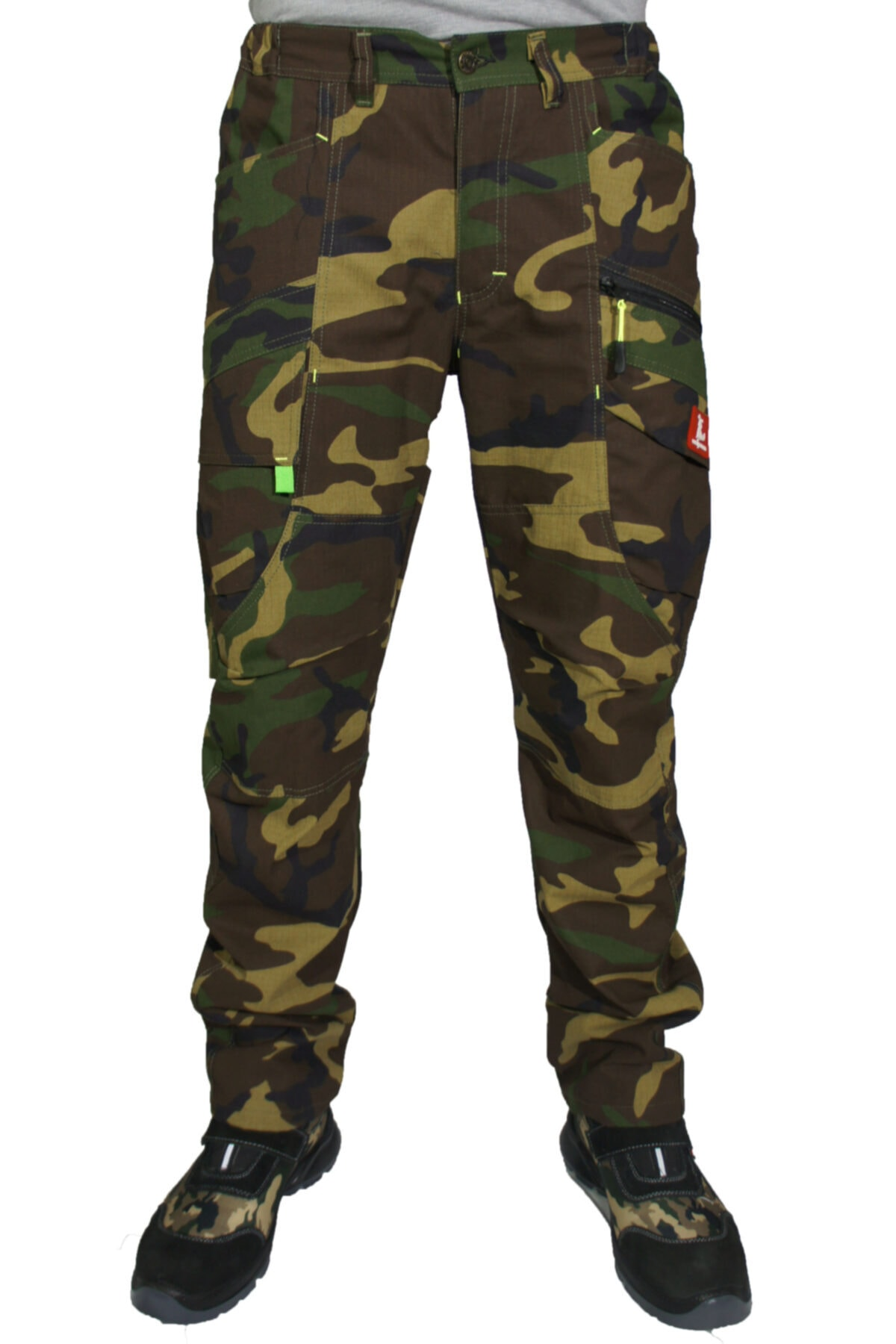 Uniprom Erkek Yeşil Kamuflaj 9 Cepli Havalandırma Fonksiyonlu Pantolon 1