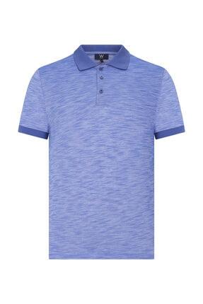 W Collection Erkek Mavi Polo Yaka T-shirt