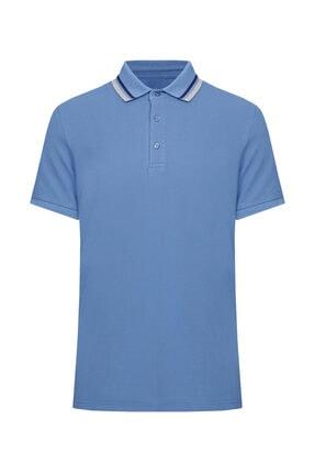 W Collection Erkek Koyu Mavi  Polo Yaka T-shirt