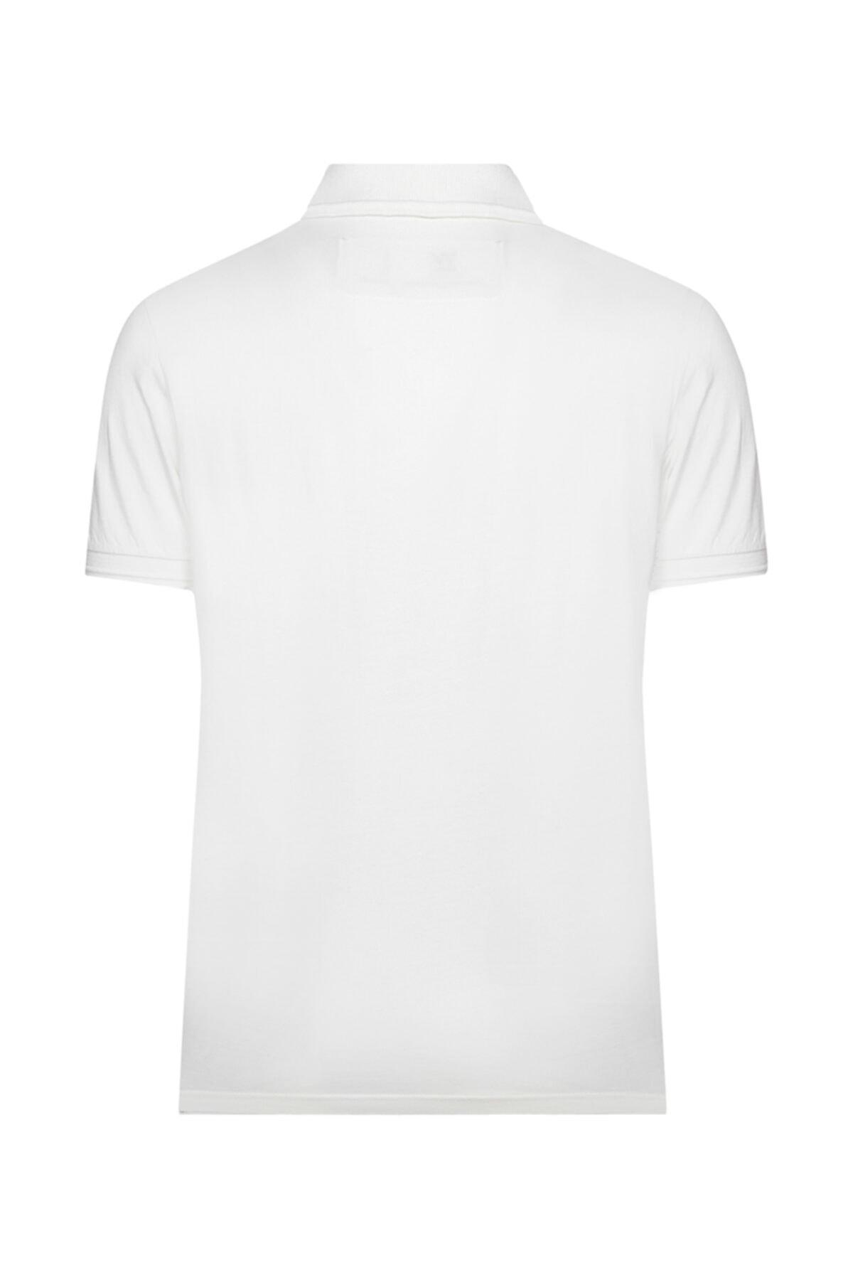 W Collection Erkek Beyaz Polo Yaka T-shirt 2