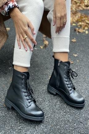 İnan Ayakkabı BAYAN SİYAH BOT&BOOTİE&POSTAL KY6095