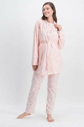Arnetta Kadın Pembe Hamile Pijama Takımı