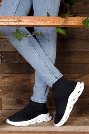 ROYJONES Roy&jones Unisex Sneakers Siyah Çoraplı Ortopedik Taban Günlük Spor Ayakkabı Arj1