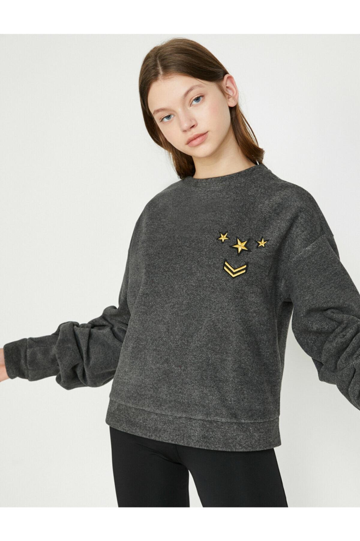 Koton Kadın Gri Sweatshirt 8KAK12504NK 1