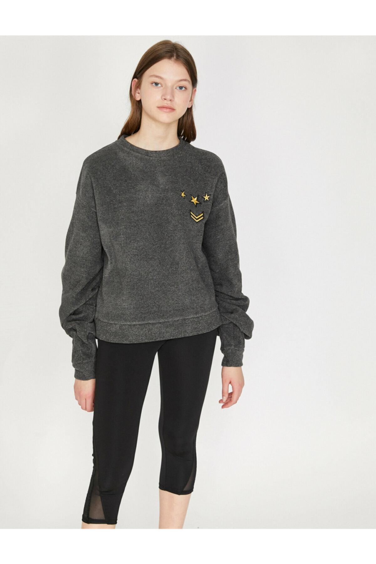 Koton Kadın Gri Sweatshirt 8KAK12504NK 2