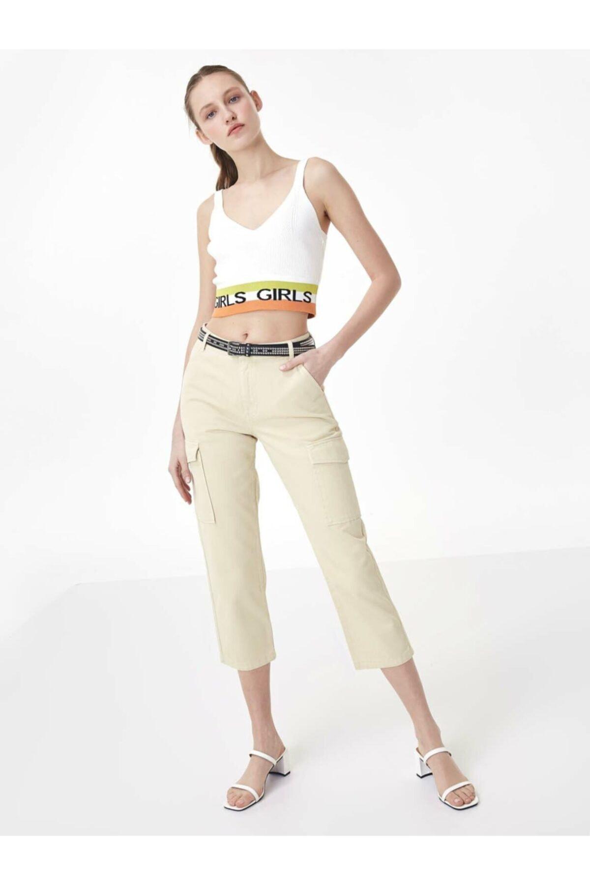 Twist Kadın Kahverengi Jean Pantolon 1