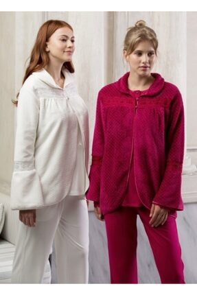 Feyza Pijama Kadın Fuşya Ultrasoft Pijama Takımı