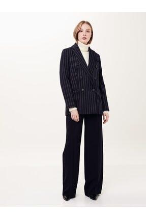 İpekyol Kadın Lacivert Çizgi Desen Ceket IW6190005211015
