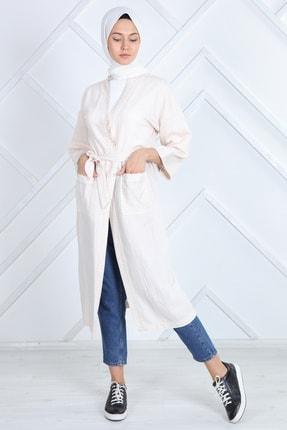 ilmek Kadın Beyaz Yazlık Kimono Hırka